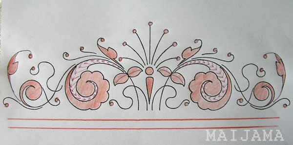карандашом рисунок рушник